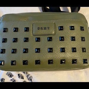 Green DKNY leather bag